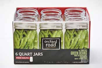 Wide Mouth Quart Canning Jars