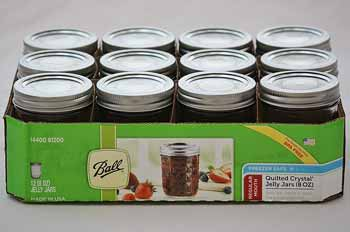 Regular Mouth Half Pint Quilted Jelly Jars (12 Jars)