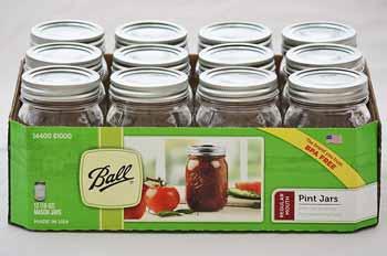 Ball Pint Jars (12 Jars)