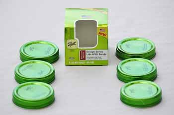 Green Decorative Mason Jar Lids (6 count)