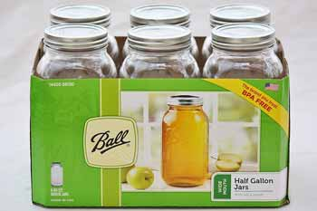 Half Gallon Mason Jars (6 Jars)