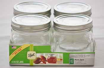 Elite Wide Mouth Pint Jars (4 Jars)