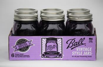 Pint Purple Ball Jars (6 Jars)