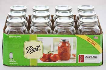 Regular Mouth Ball Quart Canning Jars (12 Jars)