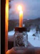 Mason Jar Lid Candle Holder