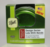 Green Design Series Regular Mouth Lids with Bands