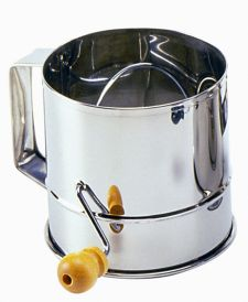 Stainless Steel 3 Cup Hand Crank Sifter