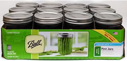 Ball Wide Mouth Pint Canning Jars