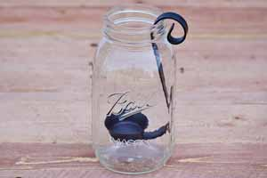 Flat Black Quart Mason Jar Candle Holder