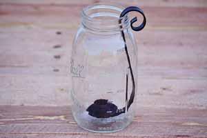 Black Quart Mason Jar Candle Holder