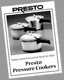 Presto Instruction Book 49831